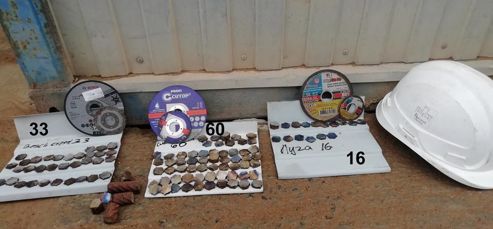 Акт испытаний отрезных дисков на объекте