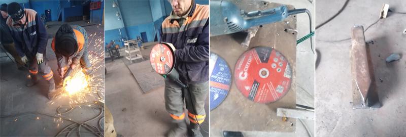 Испытания отрезных дисков