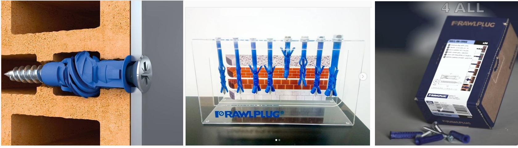 Высококачественный нейлоновый распорный дюбель RAWLPLUG 4ALL
